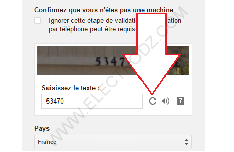 Captcha Gmail