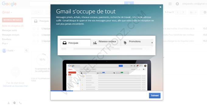 Guide nouveau compte Gmail