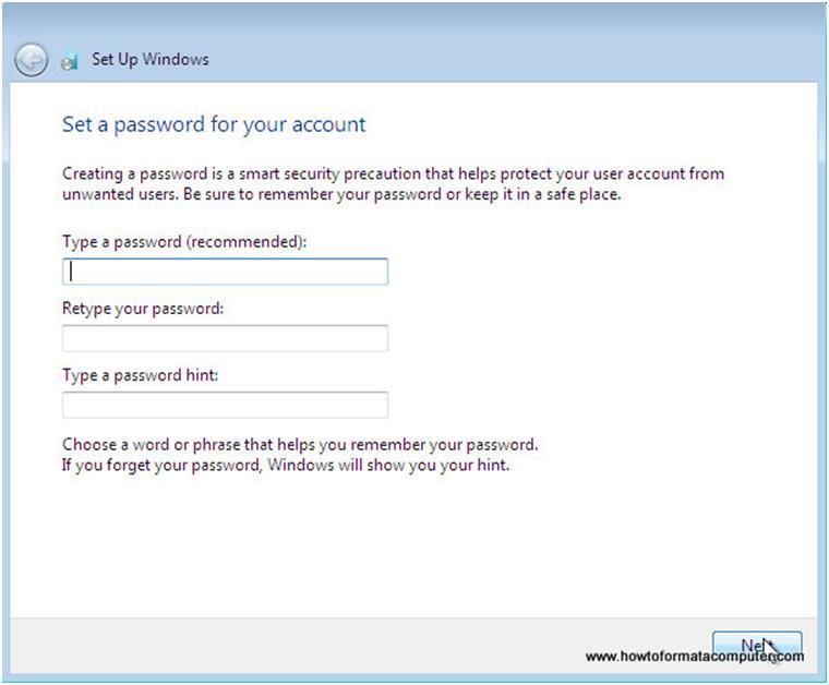 Mot de passe Windows
