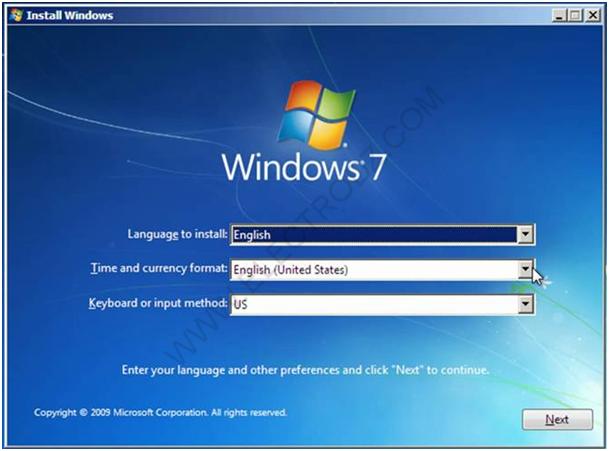 Langue d'installation Windows