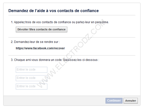 Faire appel aux contacts de confiance