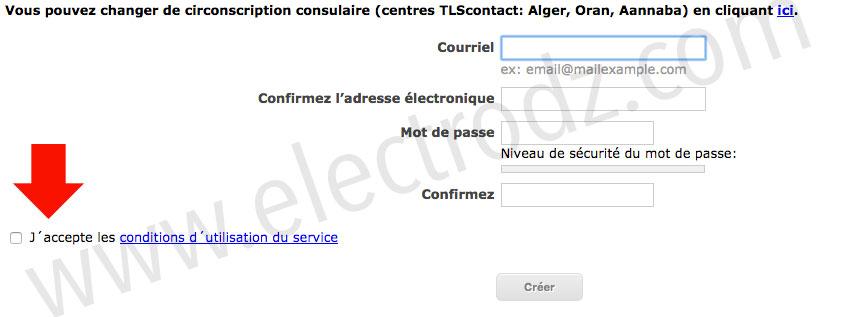 Création d'un compte TLS Contact