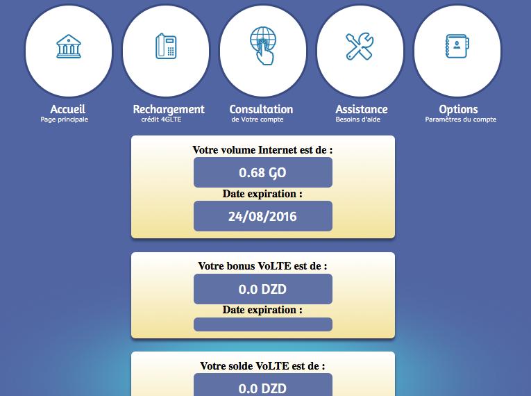 VoLTE Algérie Télécom