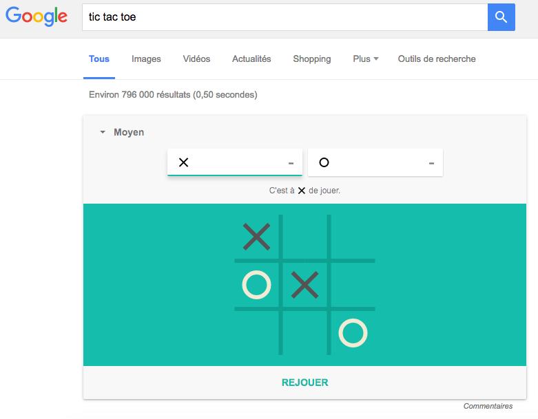 Google Tic Tac Toe