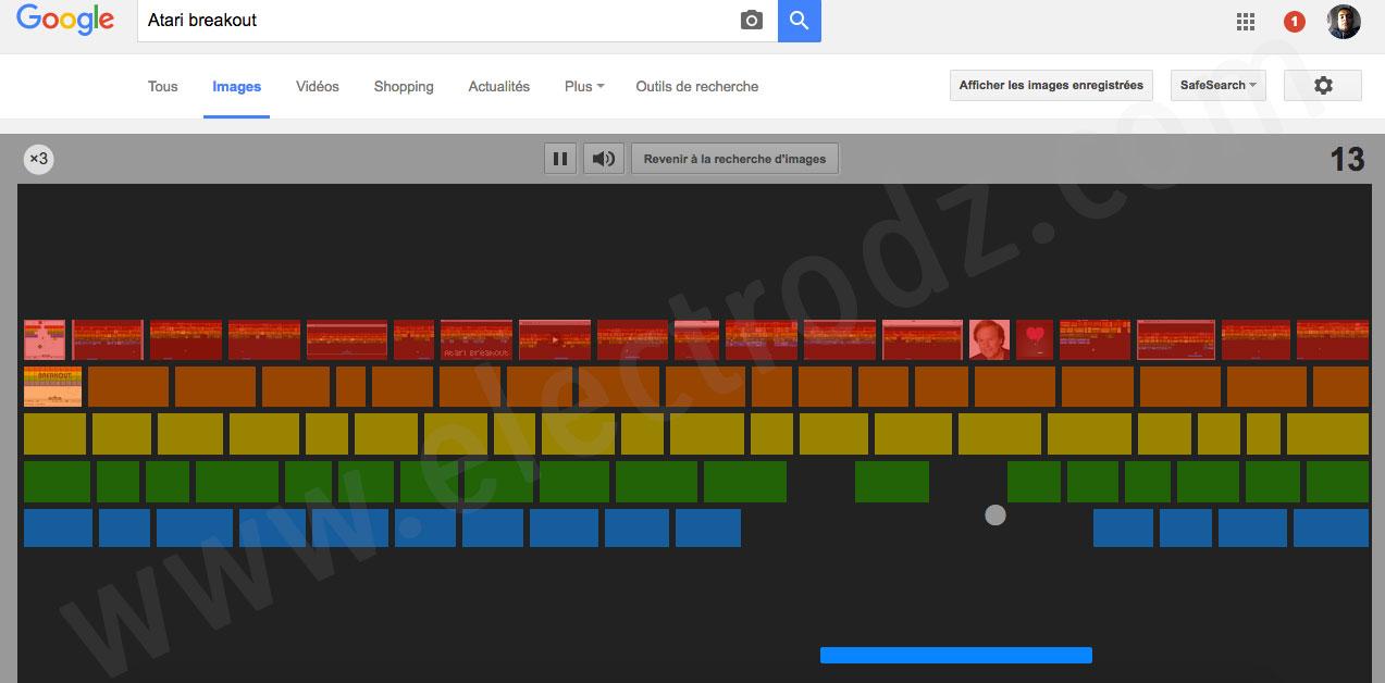 Atari breakout sur Google
