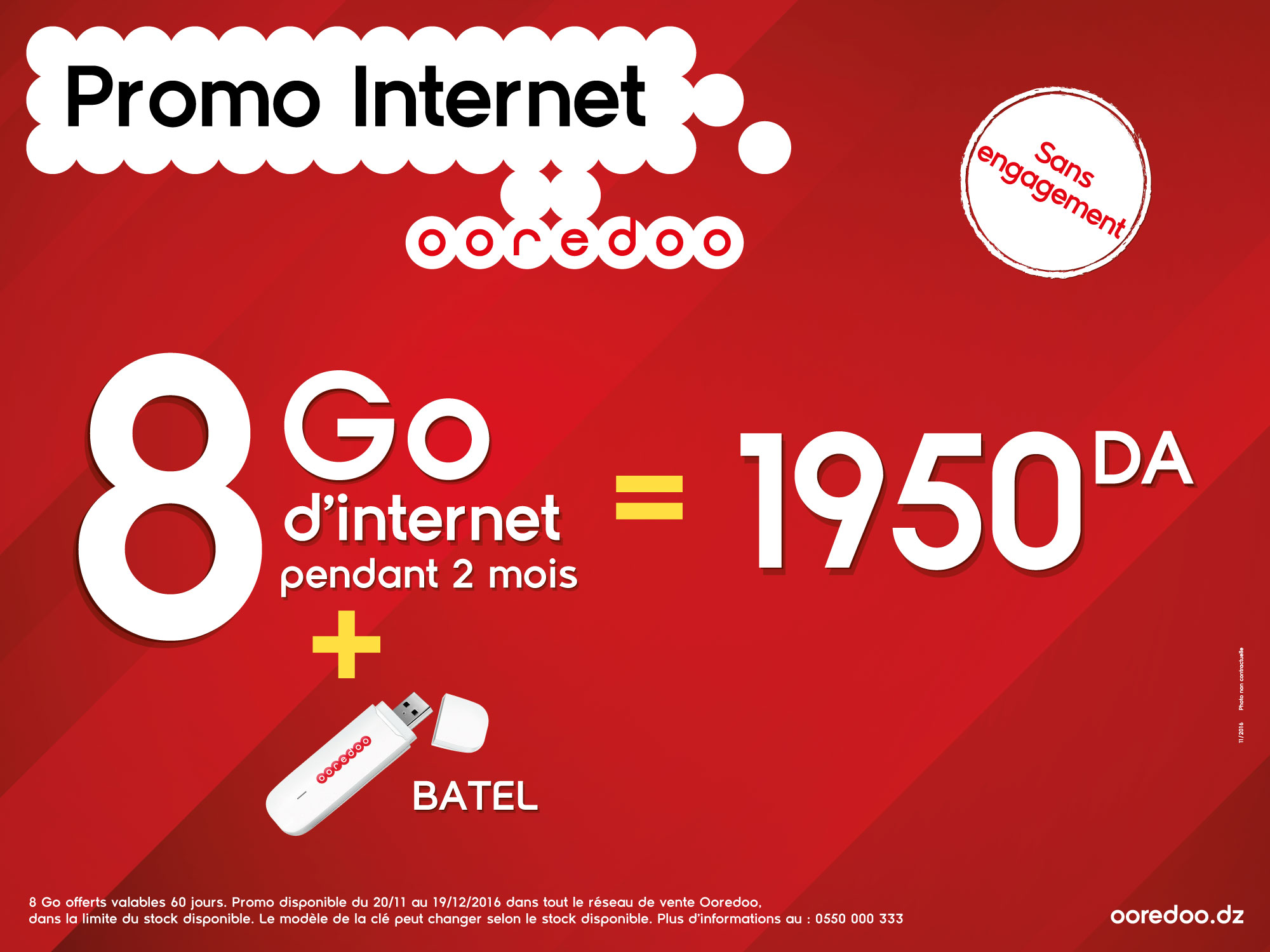 Ooredoo offre 8GO internet