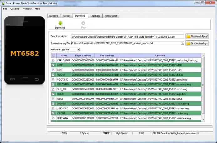 Installer firmware Condor