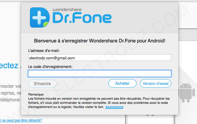Wondershare version d'essai
