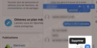 Supprimer un message sur Messenger