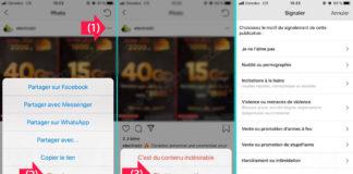 Signaler une photo ou vidéo sur Instagram