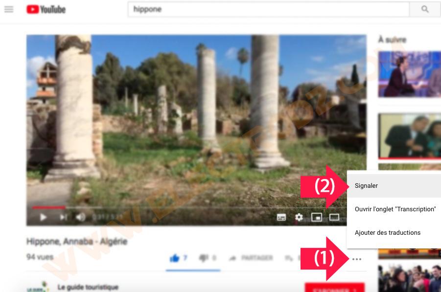 Signaler une vidéo Youtube