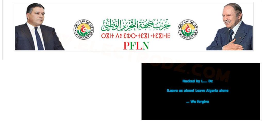 Site FLN piraté
