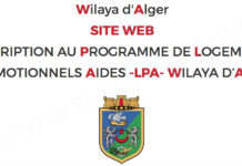 Inscription au programme LPA 2019